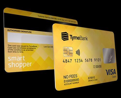 Tymebank debit card