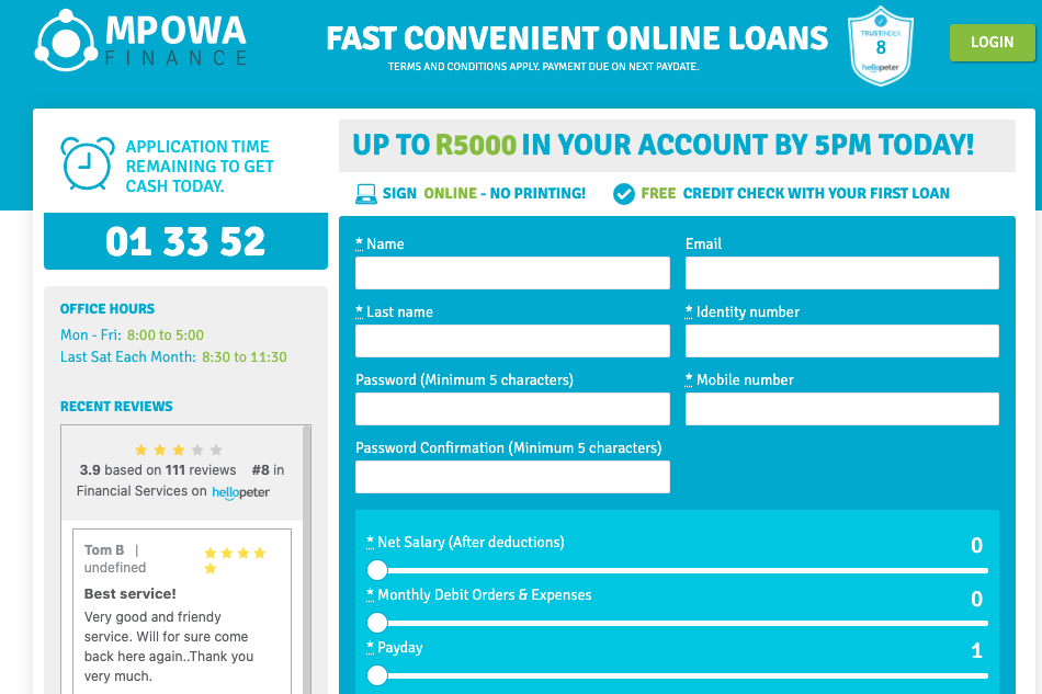 Mpowa Finance Loan Summary